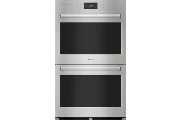"""Large image of Wolf 30"""" E Series Professional Built-In Stainless Steel Double Wall Oven - DO3050PESP"""