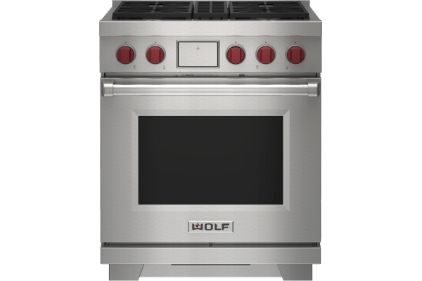 """Large image of Wolf 30"""" Stainless Steel Dual Fuel Range - DF30450SP"""
