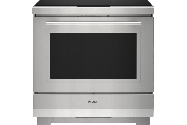 "Large image of Wolf 36"" Stainless Steel Transitional Induction Range - IR36550ST"