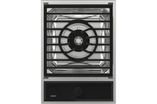 """Large image of Wolf 15"""" Stainless Steel Liquid Propane Transitional Multifunctional Module Cooktop - MM15TF/S/LP"""