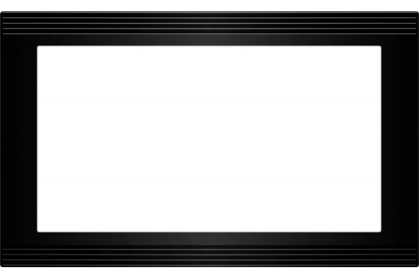 "Large image of Wolf 30"" Black E Series Microwave Trim Kit - 828023"