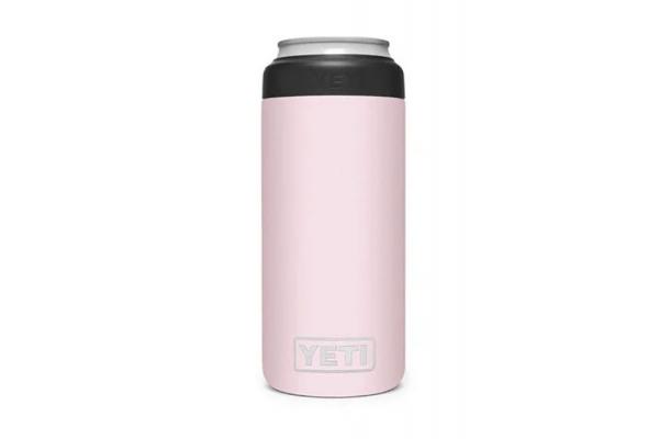 Large image of YETI Ice Pink 12 Oz Rambler Colster Slim Can Insulator - 21070090106