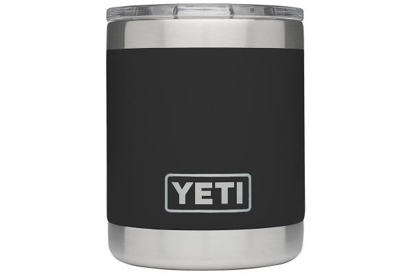Large image of YETI Rambler 10 oz Black Lowball with MagSlider Lid - 21071500563