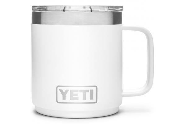 Large image of YETI Rambler 10 oz White Stackable Mug with MagSlider Lid - 21071500576