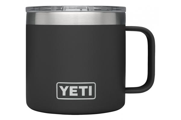 Large image of YETI Rambler 14 oz Black Mug with MagSlider Lid - 21071500593
