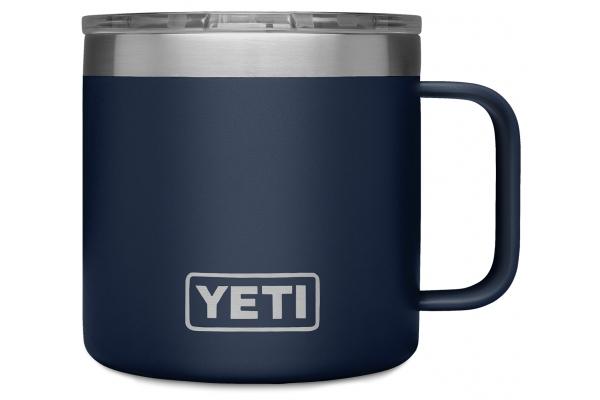 Large image of YETI Rambler 14 oz Navy Mug with MagSlider Lid - 21071500594