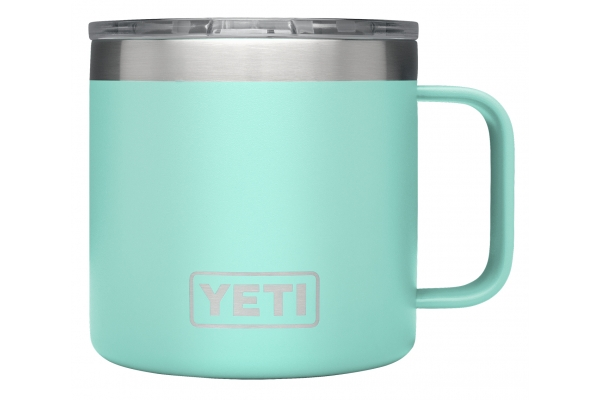 Large image of YETI Rambler 14 oz Seafoam Mug with MagSlider Lid - 21071500595