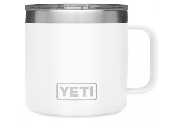 Large image of YETI Rambler 14 oz White Mug with MagSlider Lid - 21071500596