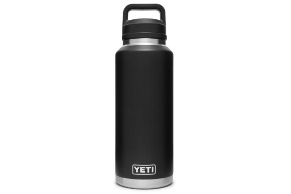 Large image of YETI Rambler 46 oz Black Bottle with Chug Cap - 21071210003