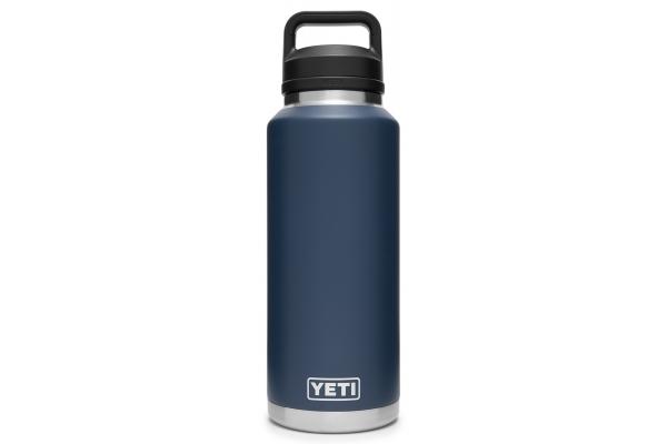 Large image of YETI Rambler 46 oz Navy Bottle with Chug Cap - 21071210004