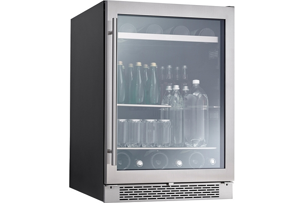 "Large image of Zephyr Presrv 24"" Stainless Frame Single Zone Beverage Cooler - PRB24C01BG"