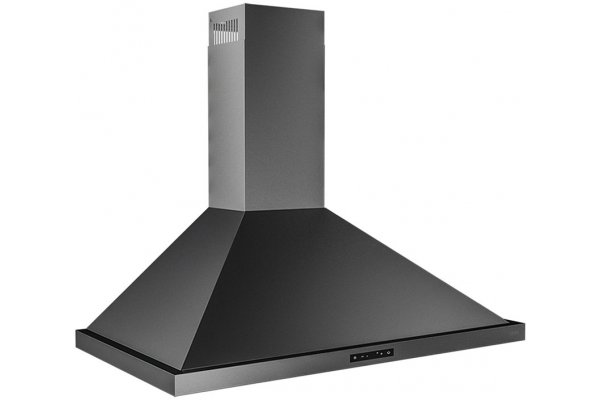 """Large image of Zephyr Ombra 36"""" Black Stainless Steel Wall Hood - ZOME36BBS"""