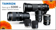 Tamron - Save up to $300 on select Tamron Lenses with mail-in and instant savings. Expires: 7-1-17
