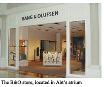 The B& store, located in Abt's atrium