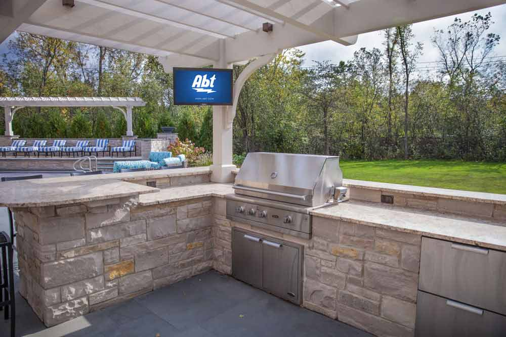 Awesome Extend Your Entertainment System Beyond The Home, With Abtu0027s Outdoor Audio  And Video Installation Options. From Mounting An Outdoor TV To Installing  Hidden ...