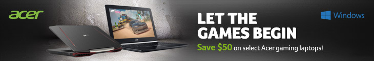 Save $50 on Select Acer Gaming Laptops