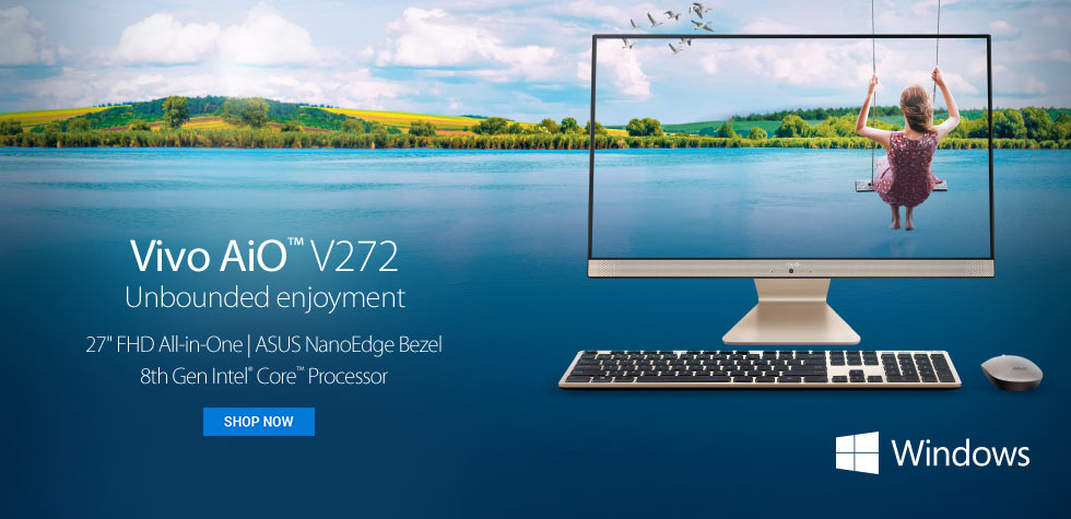 ASUS - Vivo AiO™ V272 - Unbounded enjoyment - 27 inch FHD All-in-One | ASUS NanoEdge Bezel 8th Gen Intel® Core™Processor