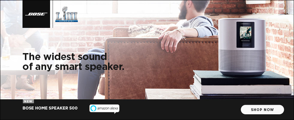 The widest sound of any smart speaker. New Bose Home Speaker 500 - Shop Now