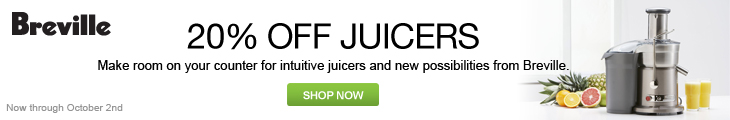 Save 20% on Brevielle Juicers at Abt