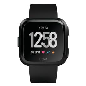 Fitbit Versa Black & Black Aluminum Smartwatch - FB504GMBK