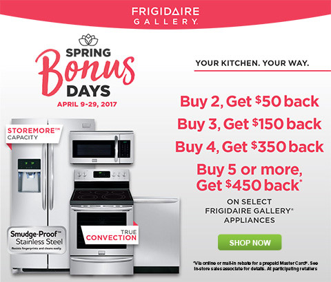 Frigidaire Gallery Spring Bonus Days 2017 at Abt