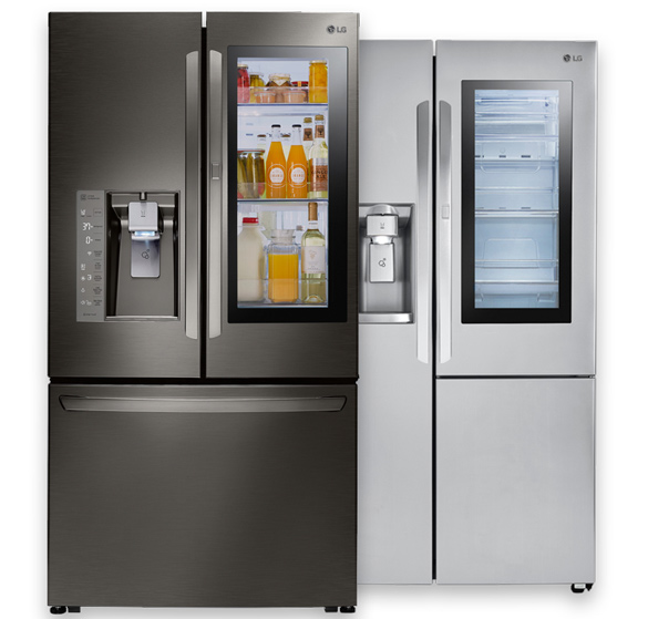 LG's InstaView™ Door-in-Door®Refrigerators