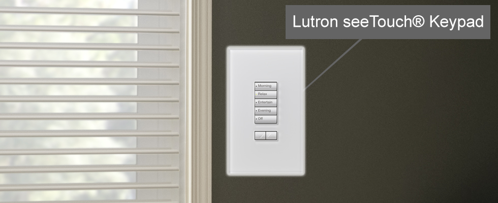 Lutron Bedroom Shades with seeTouch Keypad