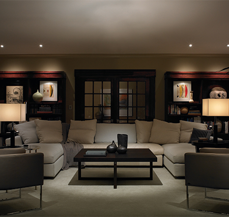 Lutron Lighting - Living Room