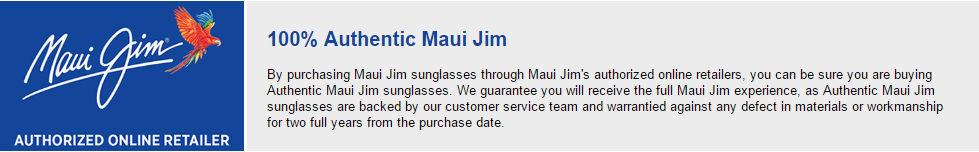 Maui Jim Authorized Retailer