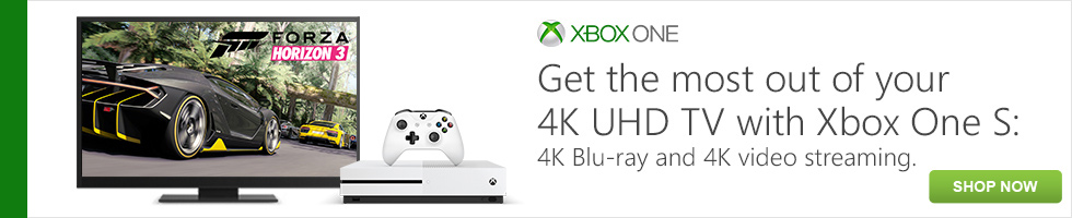 Xbox One S: 4K Blu-ray and 4K video streaming