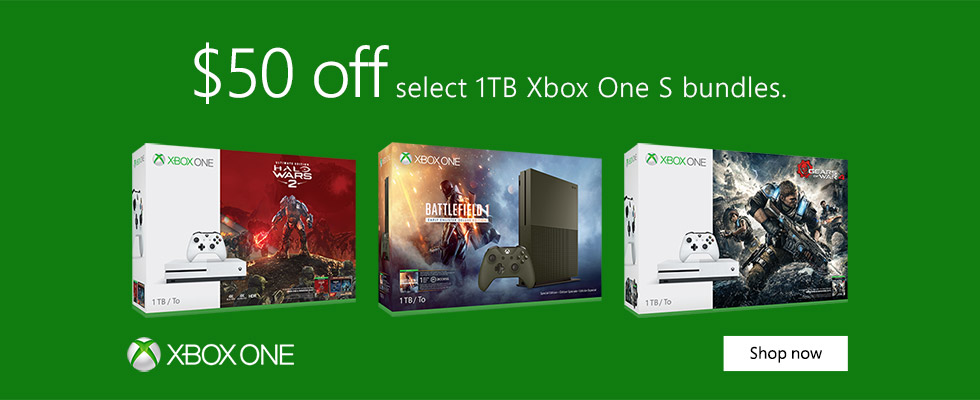 $50 off select 1TB Xbox One S Bundles