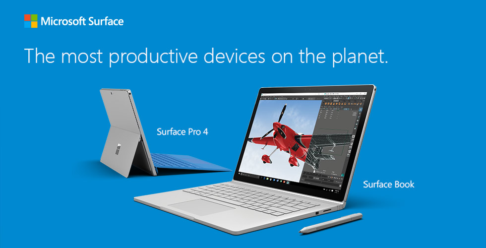 Microsoft Surface Pro 4 & Microsoft Surface Book - Most productive devices on the planet
