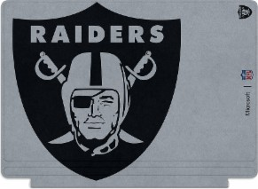 Microsoft Surface Special Edition NFL Type Cover - Oakland Raiders