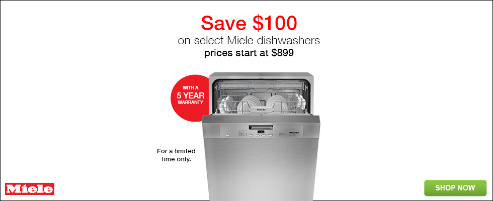save on select miele dishwashers prices start at for a limited time