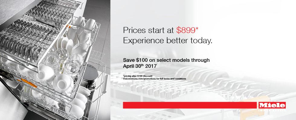 Save $100 on Select Miele Dishwashers