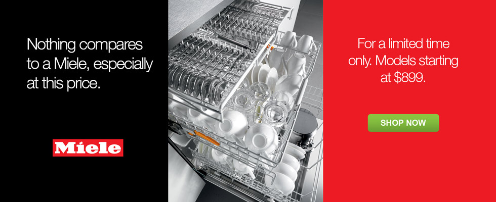 For a limited time only, Miele dishwashers are starting at $899 - Through Nov. 30th