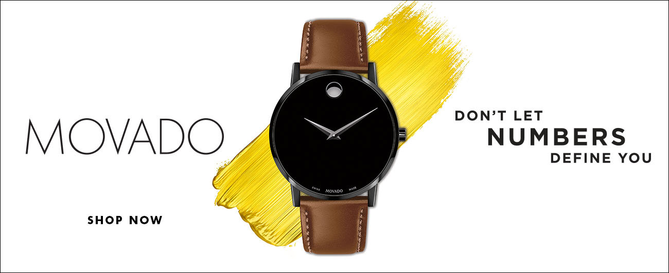 Movado - Don't let numbers define you. Shop Now