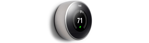 Nest Thermostat Leaf