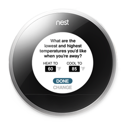 Nest Away Temperatures