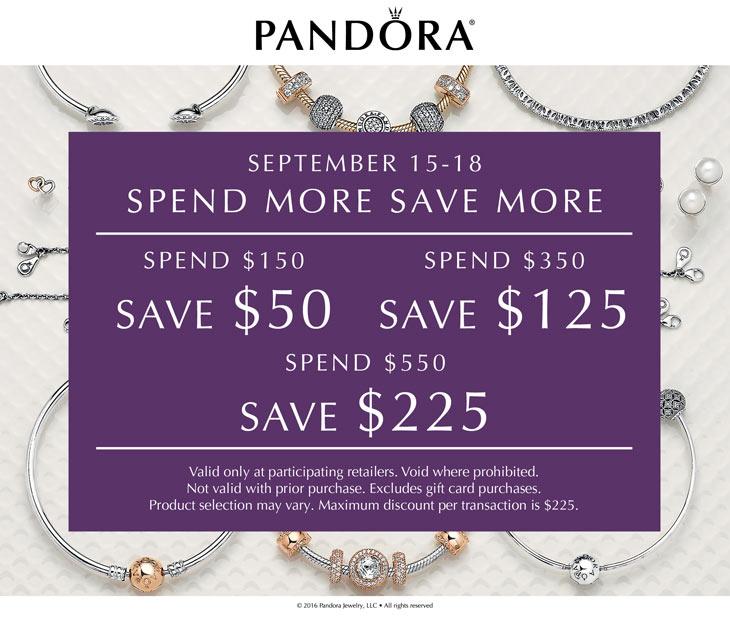 Pandora Spend More Save More