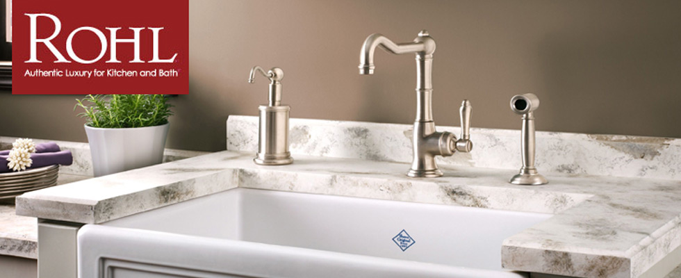 ROHL Faucets and ROHL Sinks | Fireclay & Satin Nickle | Abt