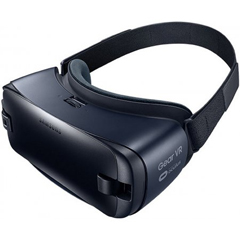 Shop Samsung Gear VR Goggles in Blue Black