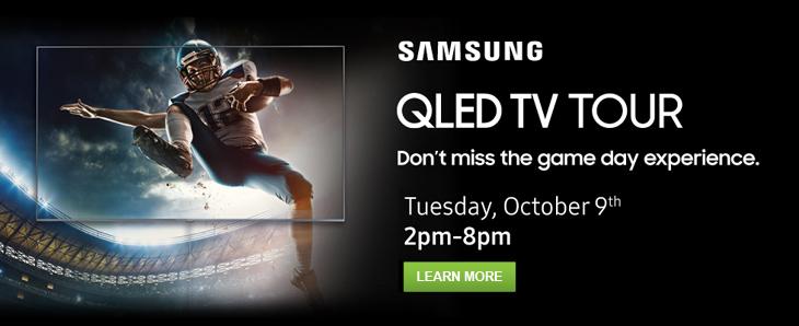 October 9th: Samsung QLED TV Tour