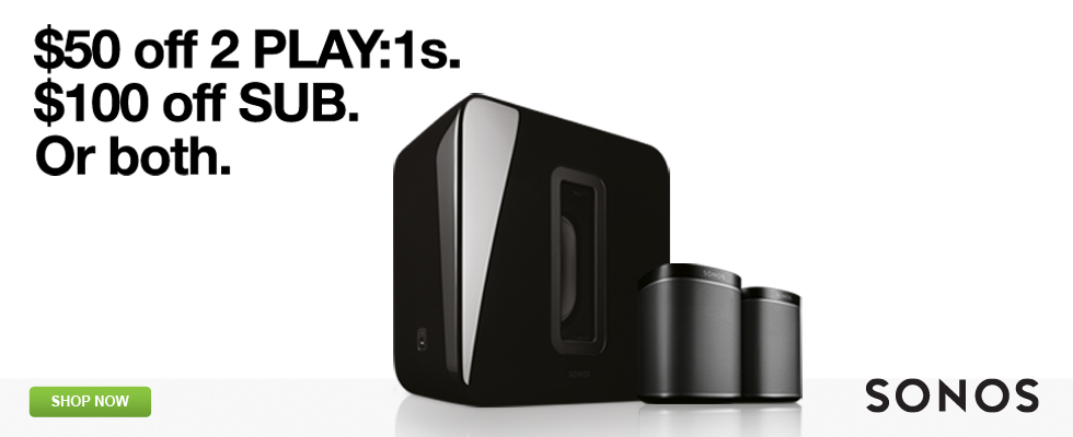 Sonos - $50 off 2 Play:1s. $100 off SUB. Or Both - Shop Now