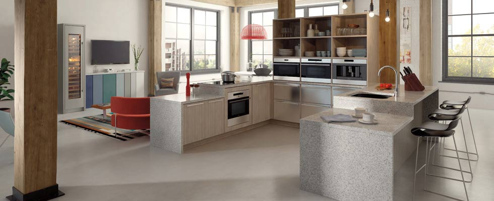 Sub-Zero and Wolf Full Kitchen - Featuring Wall Ovens, a Wine Refrigerator and a Cooktop
