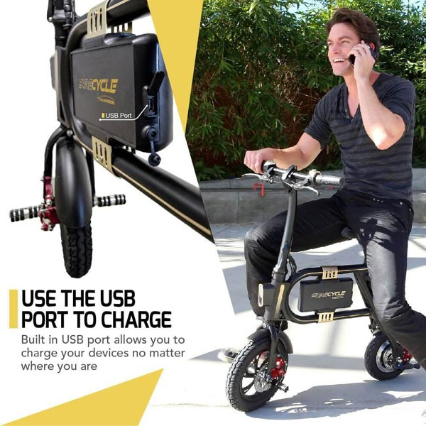 Swagtron Swagcycle - Use The USB Port To Charge