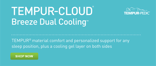 Shop for the Tempur-Pedic Tempur-Cloud Breeze Dual Cooling Pillow at Abt.