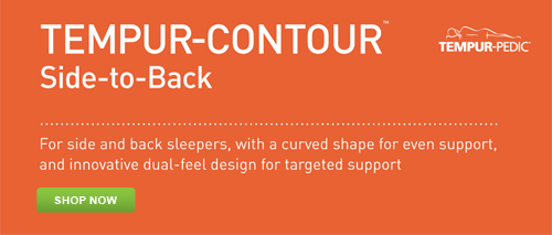 Shop for the Tempur-Pedic Tempur-Contour Side-to-Back Pillow at Abt.