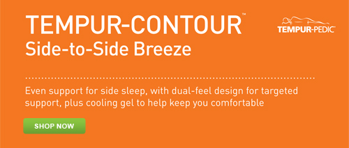 Shop for the Tempur-Pedic Tempur-Contour Side-to-Side Breeze Pillow at Abt.