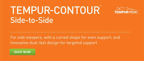 Shop for the Tempur-Pedic Tempur-Contour Side-to-Side Pillow at Abt.